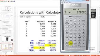 Capital Budgeting Techniques - Calculator