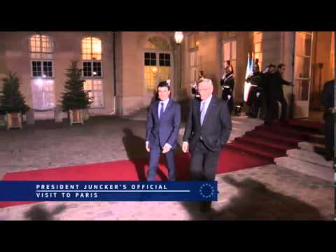 President Jean-Claude Juncker official visit to Paris