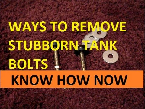 replacing rusted toilet tank bolts