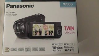 Panasonic HC-W580 HC-V380 Digital Video Camera Unboxing and Review