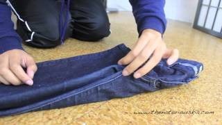 Closet Organization | How To Perfectly Fold Jeans