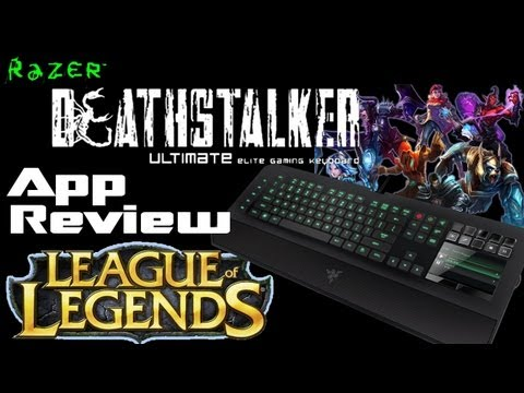 Razer Deathstalker Ultimate Switchblade UI App Review - League of Legends & Game Timer