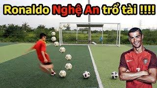 Thử Thách Bóng Đá với Quang Hải Nhí Ronaldo Nghệ An kỹ thuật cực đỉnh như Messi Hà Tĩnh PVF