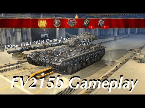 World of Tanks blitz // FV215b First Gameplay (답= 이로비포다)
