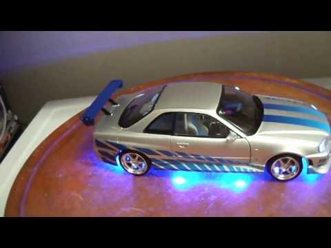 Brian's 1999 Nissan SKYLINE GT-R (R34) 1/18 scale diecast GREENLIGHT Custom LED Lights