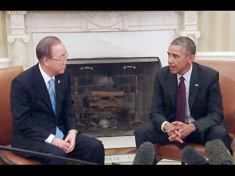 President Obama Meets with U.N. Secretary-General Ban Ki-moon