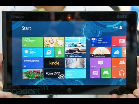 Lenovo ThinkPad Tablet Running Windows 8 Hands-On