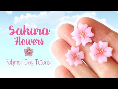 Easy Sakura Flowers│Polymer Clay Tutorial