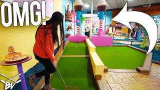 THE BEST MINI GOLF GAME EVER! - MOST HOLE IN ONES EVER?!