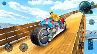 Moto Spider Vertical Ramp: Jump Bike Ramp Games - Gameplay Android game