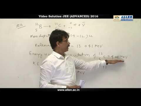 JEE Advanced 2016 Physics Solution Q. 15, 16, 17, 18 (Paper-1) Code-9
