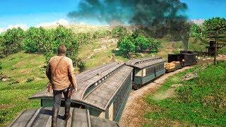 EXTREME TRAIN HEIST MISSION! (Red Dead Redemption 2)