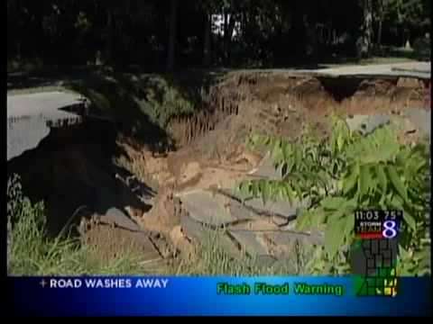 0 Wednesday's rains caused a washout on Allegan Dam Road, ...