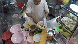 Lor Mee, Bak Chor Mee, Pig Soup, Fishballs and Minced Pork Noodles. Singapore Street Food