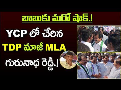 బాబుకు మరో షాక్ : YCPలో చేరిన TDP మాజీ MLA గురునాధ రెడ్డి | TDP Ex MLA Gurunath Reddy join YSRCP