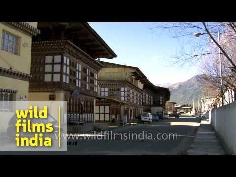 Main town of Haa District in Bhutan