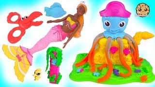 Under Water Ocean Play Doh Friends with Mermaid Barbie Doll - Cookie Swirl C Video