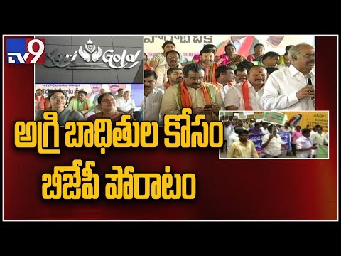 AP BJP leaders relay hunger strike at Vijayawada over Agrigold victims - TV9