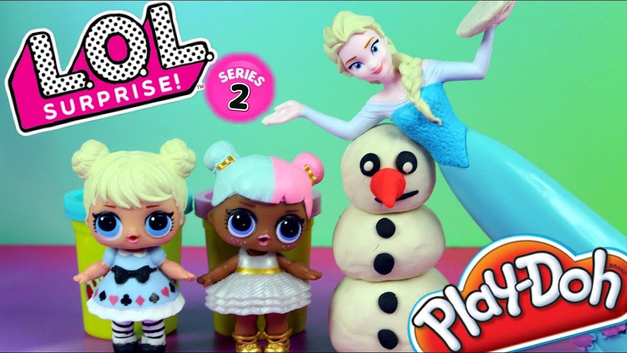 Play Doh Frozen • Świecący Pałac Elzy • LOL Surprise Seria 2 & Disney Frozen • Kreatywne zabawki