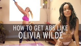 Olivia Wilde Sexy Abs Workout