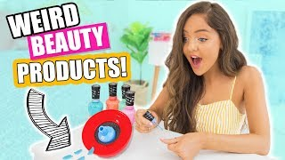 Testing CRAZY + WEIRD Beauty Products You Need To Try!
