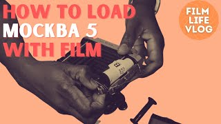 How to load the Mockba 5 film camera with 120 film