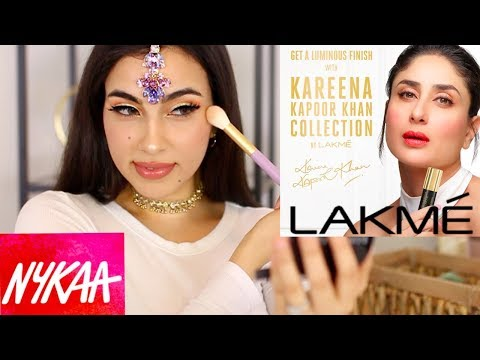 ARAB GIRL TRYING INDIAN MAKEUP TUTORIAL | NYKAA, LAKME MAKEUP BRAND