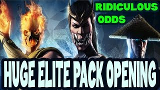 Chances to get diamond card from Elite pack! 75+ Elite packs opening in MKX Mobile