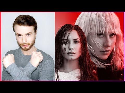 CHRISTINA AGUILERA X6 Fall In Line (Lyric Video) ft. Demi Lovato REACTION #1
