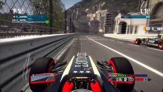 F1 2012 - Backwards Race at Monaco with Alonso & Vettel