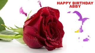 Abby - flowers - Happy Birthday