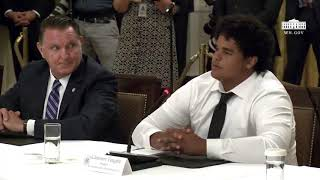 High school student thanks President Trump on behalf of students for his effort to re-open schools