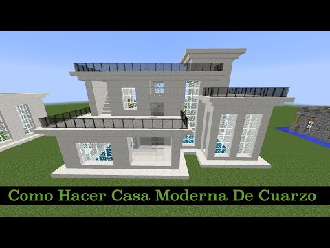 Como hacer una casa moderna en minecraft pt2 for Como aser una casa