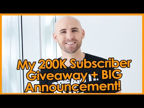 200,000 SUBSCRIBER GIVEAWAY + BIG ANNOUNCEMENT!