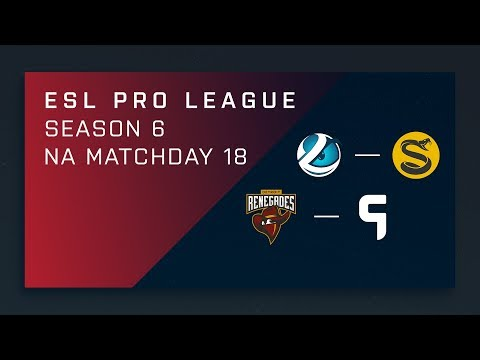 CS:GO: Lum vs. Splyce | Renegades vs. Ghost - Day 18 - ESL Pro League Season 6 - NA 2nd Stream