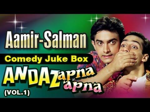 Salman Khan Aamir Khan Best Comedy Scenes Jukebox 9 - Andaz...