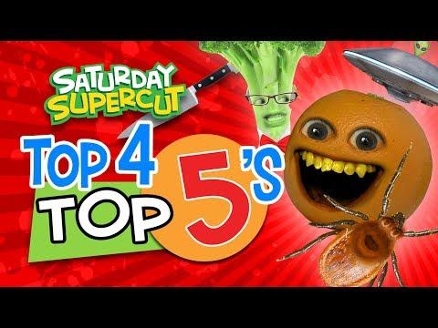 Annoying Orange - Top 4 Top 5's!  (Saturday Supercut)