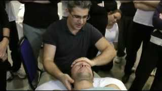 Massage technique. Neck & Shoulder supine