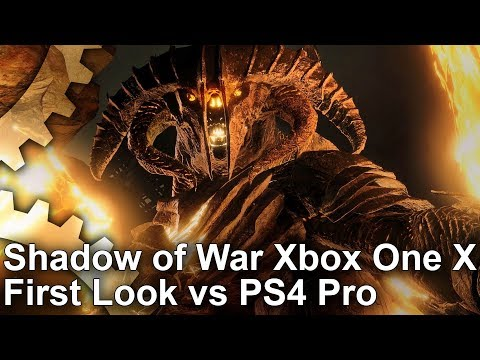 [4K] Shadow of War: Early Xbox One X vs PS4 Pro Graphics Comparison + Frame-Rate Test