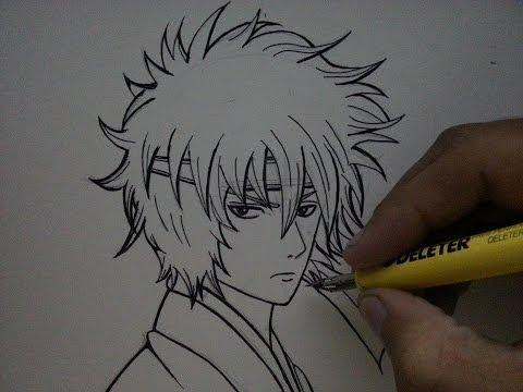 TUTORIAL How to Draw Sakata Gintoki