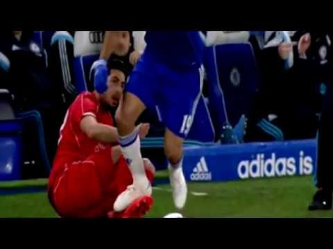 Diego Costa Dirty Stamp on Emre Can's ankle Chelsea vs Liverpool 1-0 HD
