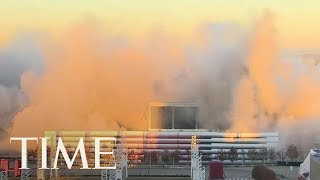 The Georgia Dome Imploded Today: Watch The Mesmerizing Video, It Took 240 Tons Of Explosives | TIME