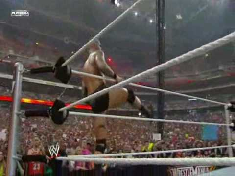 WWE Wrestlemania 26 Randy Orton vs Cody Rhodes vs Ted Dibiase Triple threat match (1/2)