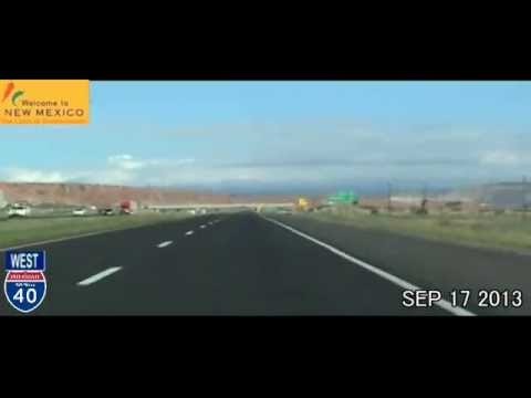Albuquerque NM to Las Vegas NV Time Lapse Drive