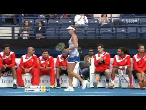 [HD] Agnieszka Radwanska vs Belinda Bencic FULL MATCH IPTL Dubai 2015