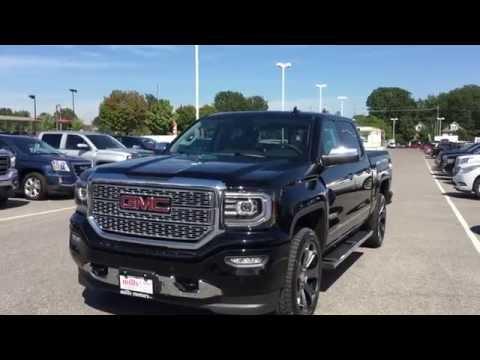 Demo 2017 GMC Sierra 1500 4WD Crew Cab Denali Black Oshawa ON Stock # 170084