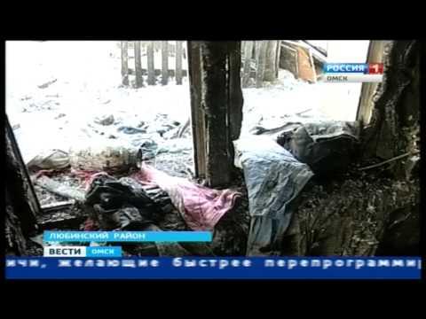 В Любинском районе в пожаре погибли люди (ВЕСТИ-Омск, 27.10.2014)