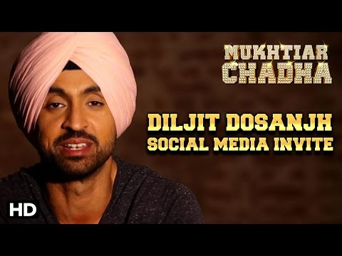 Diljit Dosanjh Aka Mukhtiar Chadha Invites You To Join The Social Media Of ErosNow!