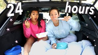 24 Hour Car Challenge! Living in My Car for 24 Hours w/ MissRemiAshten!