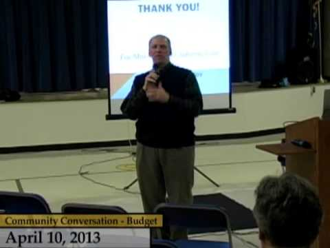 Enfield, CT, USA - Community Conversation on the Budget - April 10, 2013